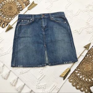 Levi's Denim Skirt with Front V-Split